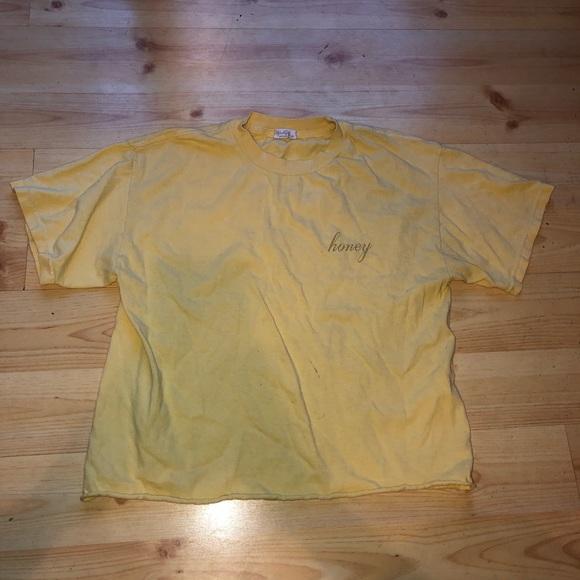 Brandy Melville Tops - Brandy Melville Honey Crop T-Shirt